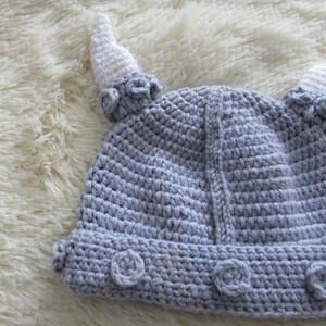 Wholesale pure handmade crochet baby hat knit cow devil hat