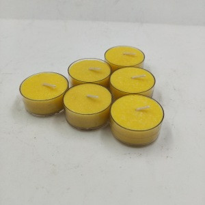 Yellow Color Citronella Oil Tealight Candle
