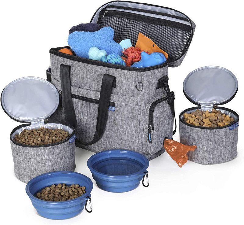 Outing Shoulder Bag Dog Food Carrying Portable Travel Bag Pet Supplies Storage Bag Trolley Case
