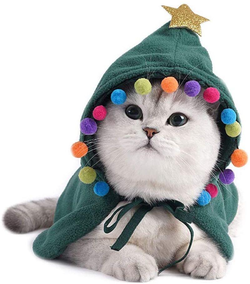 Pet Christmas Costume Cloak Dog Cat Cosplay Deer Costumes