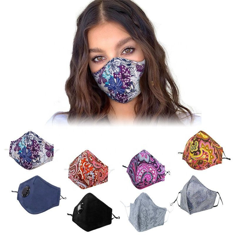Fashion oem reusable activated carbon cotton face mouth mask