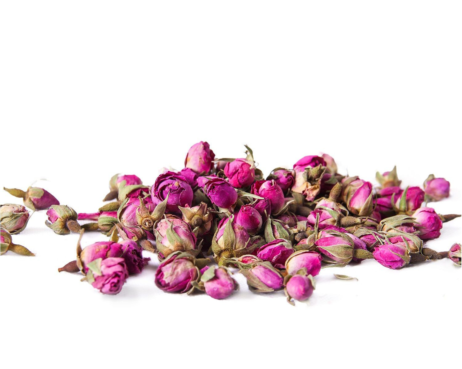 Organic and Conventional Rose Buds
