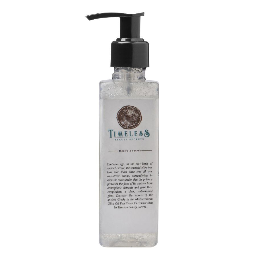 Timeless Beauty Secrets Organic Olive Oil Unscented Delicate Face Wash For Tender Skin