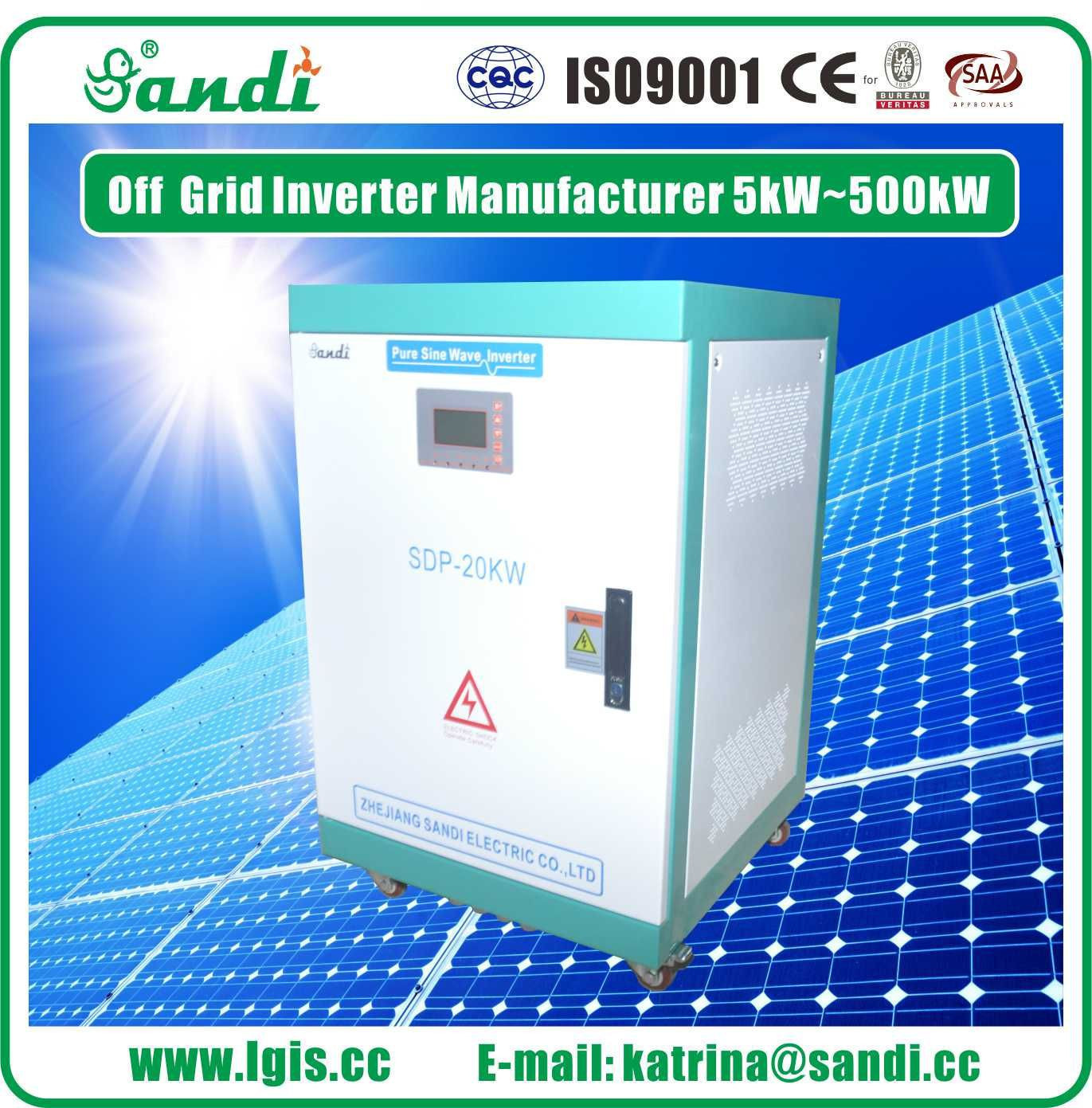 Pure Sine Wave 20kw solar power inverter hybrid off grid inverter