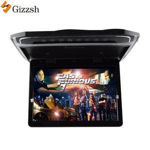 17.3inch 1080P roof mounted  flip down MP5 TV car monitor with SD HDMI USB LED Atmosphere lamp