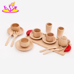 2016 Simulation baby wooden tableware, fashon kids wooden tableware, hot sale children wooden wooden tableware W10C201