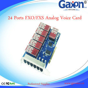24 Ports FXO FXS Asterisk analog voice card,Analog Voice Card For VOIP IP PBX