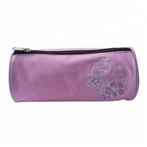 600D eco bag girls zipper lock custom pencil bag
