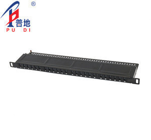 Cat 5E 0.5u height patch panel UTP 24 ports