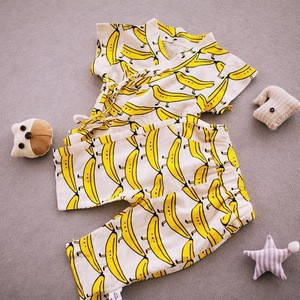 Child clothing Sets 0 to 3 Years Old 6 Month Bamboo Cotton Baby Pajamas Set