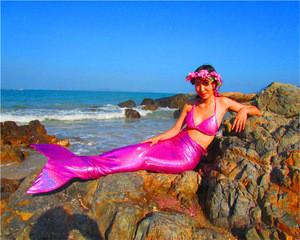 Children&adult mermaid swimwear, mermaid tail swim mono fin