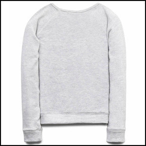 Custom design Cotton activated fold long sleeve children sweat shirt