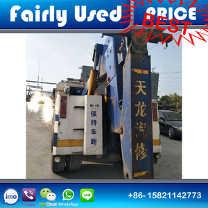 Diesel fuel type howo used recovery tow wrecker truck