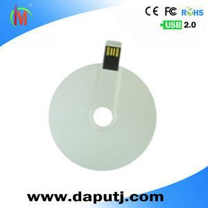 Electronic gift usb flash drive CD disk shape usb memory card 2.0 blank usb pen drive
