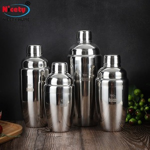 European type shaker drink liqueur mix stainless steel barware cocktail shaker