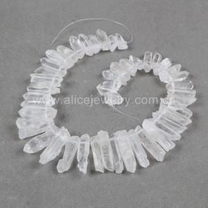 G0707 Clear quartz gemstone aura titanium druzy quartz crystal point loose beads angel jewelry strand