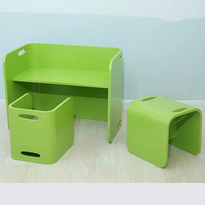 High Quality Wooden kid table and chair set nursery school furniture