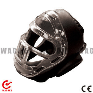 Martial Arts/ Karate Head Guard with P.C. Face Shield