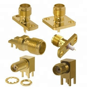 Mini smt pcb mount RF SMA connector plug male and jack female right angle gold SMA cable connector RG174 RG316 RG58 RG6 lmr19