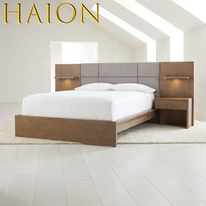 Modern Compact Apartment Residential Hotel Bedroom Furniture Set