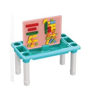 Multifunctional building blocks table 316pcs plastic brick toys educational building blocks toy for kids