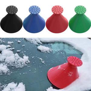 New design logo customized plastic cheap wholesale portable round car cone ice scraper