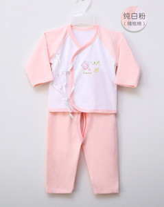 Newborn baby long sleeve sleepwear suit autumn underwear with lacing set toddle pajamas
