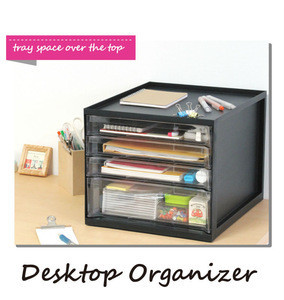Plastic Organizing drawers for desktop document made in japan