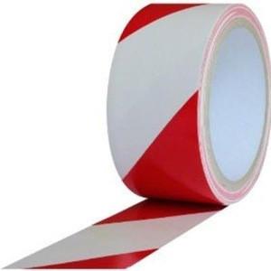 """Red & White Hazard Warning/Safety Stripe Tape 2"""" x 36 Yard"""