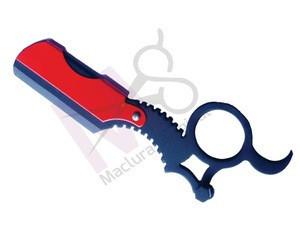 Stainless Steel Changeable Blade Straight Barber Finger Razors in different Colors , Finger Razor