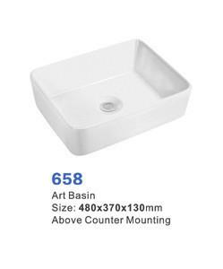 Table top basin bathroom sink ceramic counter top hand rectangular white color art wash basin sink