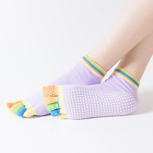 Wholesale fitness yoga socks five-toe anti-skid breathable sports women socks
