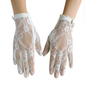 Women's Vintage  Elegant  Lace Cotton Short Weeding Gloves