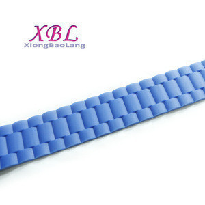 XBL Colorful clear silicone sport rubber plastic men belt