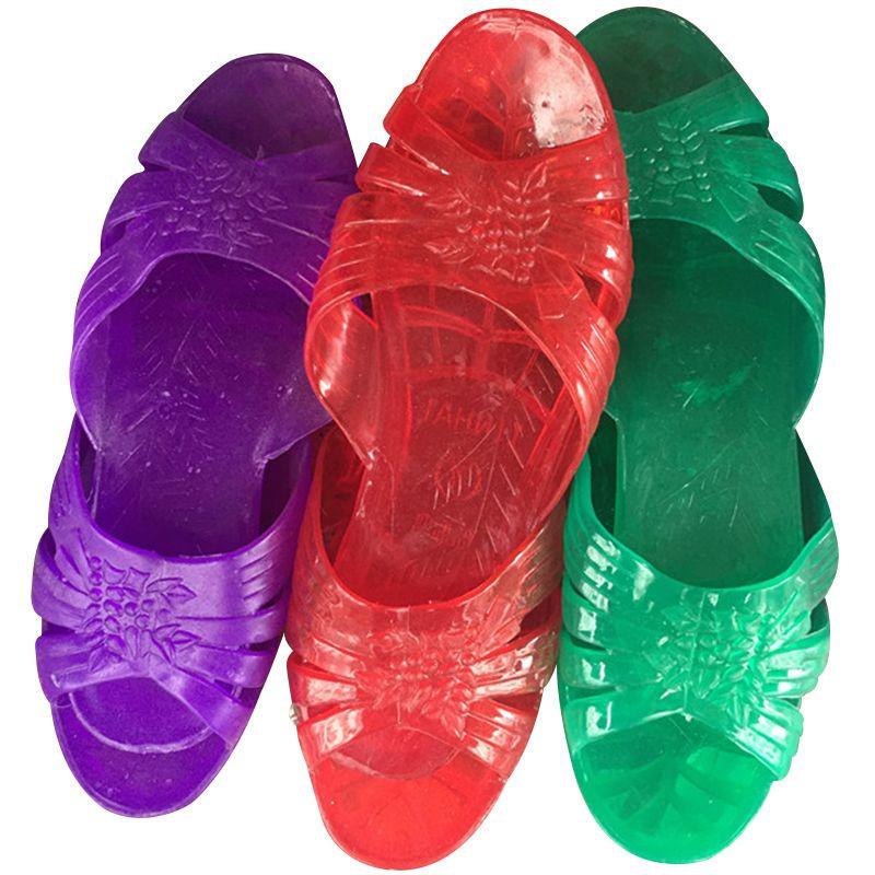 Female slipper, three colours