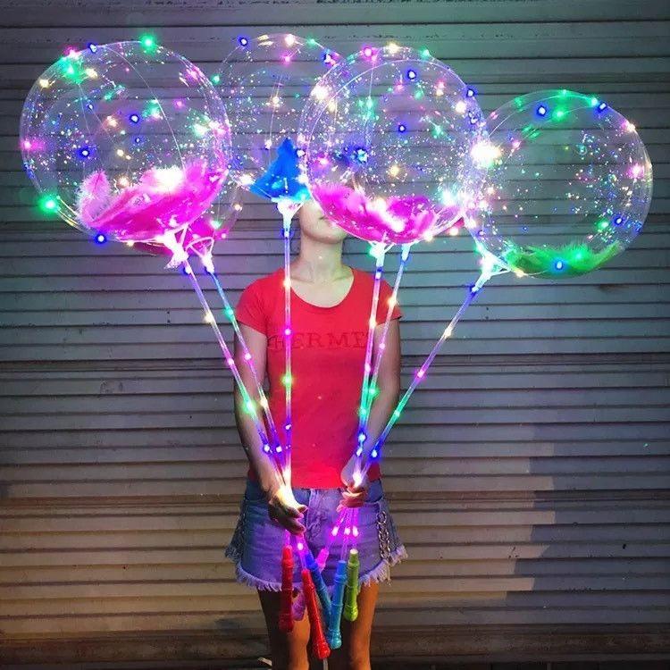 Light Film Lighting 2M LED Inflatable Helium Air Balloons