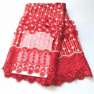 2018 High Quality African Cord Lace Fabric Nigerian Lace Fabric For Wedding Dress