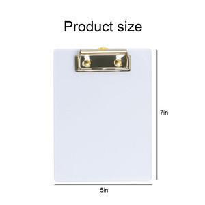2021 hot office binding fold gold clear acrylic a5 clipboard for hospital