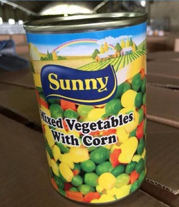 425g Canned mix vegetables brand with Green Peas and corn carrots in tin