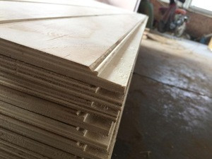 9 /12 /15 / 18mm  V/ W / U Slotted plywood / Grooved plywood/ Slot plywood  display shelf