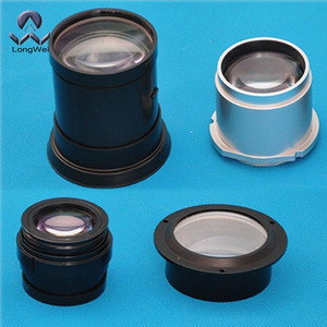 CCTV lens optical glss projector lens with plastic house