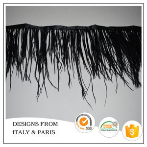 Chiffon pheasant feather fringe ostrich trimming for dress