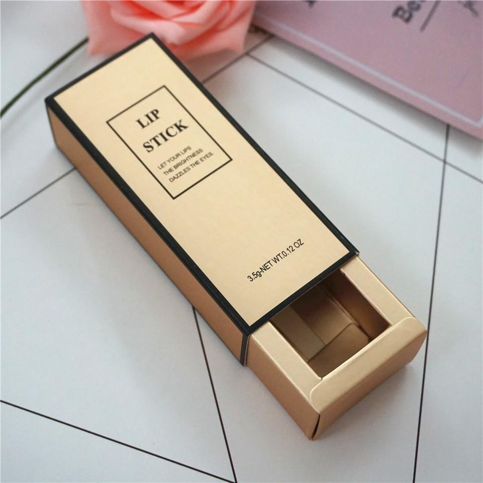 Custom black sliding lipstick box packaging luxury for gift