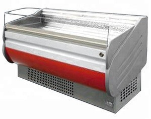 Dingfeng flat top open air curtain supermarket fresh meat display chiller
