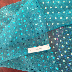Dot Sequin 3mm Spangle High Quality Decoration Chiffon Fabric To Serbia