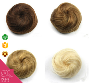 Factory price fashionable hair bun fake hair bun synthetic chignon hair pieces bun