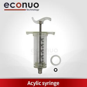 Good quality 50ml plastic acrylic syringe Steel Veterinary Animal Syringe Without Dose Nut