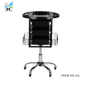 Hairdressing hair barber beauty spa salon trolley with drawer rolling cart