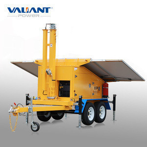 Hot hot hot car trailer of generator solar