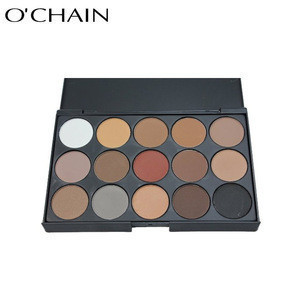Hot sale 15 colors shinning make up cosmetics eyeshadow palette